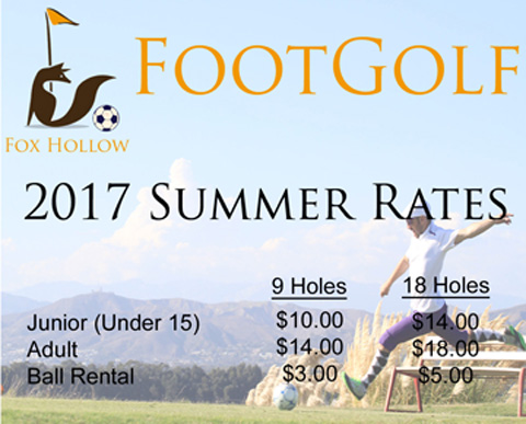 Foot Golf 2017 Rates TV Image